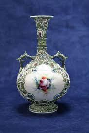 Antique Hand Painted Vases Vintage Nippon Hand Painted Vase Gold Beaded Maple Leaf Mark