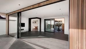 glass sliding doors balcony living space modern home in