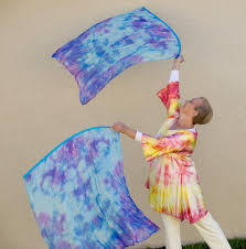 Praise Flags For Sale Hand Dyed Silk Flags Set Of 2 Dancing For Him Ministries