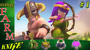 clash of clan clash of clan farming strategy with babarian and archer so