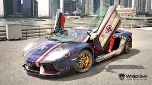 rainbow lamborghini captain america lamborghini aventador is one hell of a wrap