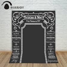 wedding backdrop chalkboard allenjoy diy wedding background idea chalk archway backdrop