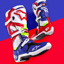 motocross boots size 10 alpinestars limited edition des nations tech 10 boots white red