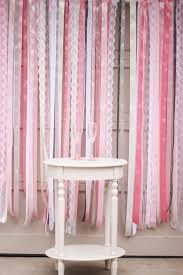 Curtains With Ribbons Diy Ribbon Lace Backdrop Tutorial Oh Lovely Day