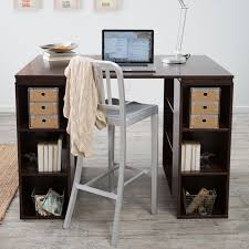 Polished Oak Desk Belham Living Sullivan Counter Height Desk Espresso Hayneedle
