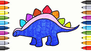 dinosaur coloring page book stegosaurus drawing and coloring for