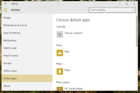 how to set a default browser or anything else in windows 10