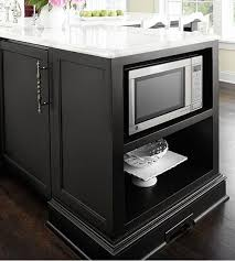 microwave in island in kitchen kitchen island plans from thrifty decor
