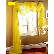Solid Color Valances For Windows Amazon Com Yellow 216