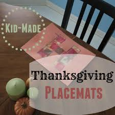 thanksgiving placemats for kids kid made thanksgiving placemats