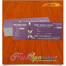 gift certificate printing 50 best nail spa gift certificate design images on