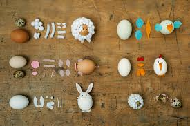 decorated egg shells easter decoration with animals out of egg shells look what i