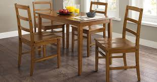 walmart dining table and chairs walmart com 5 piece wooden dining set only 63 shipped regularly