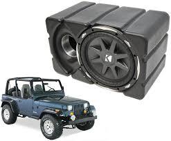 jeep wrangler speaker box jeep wrangler kicker cvx10 loaded car stereo custom fit 10