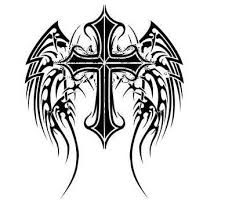 cross with wings by aj kidman wings and