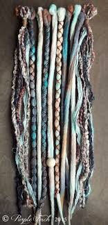 boho hair wraps 10 mixed sand tie dye wool synthetic dreadlock clip in