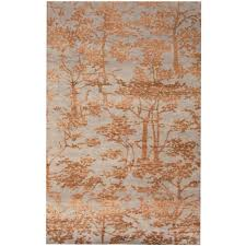 Faded Persian Rug by Indo Hand Knotted Erased Wool And Silk Rug 6 U00275 X 10 U0027 Herat