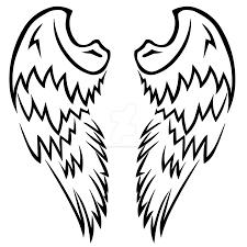 tribal angel wings tattoo design by wearwolfclothing on deviantart
