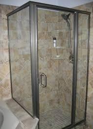 clear glass door bathroom ceramic tile flooring glass mosaic subway tiled clear