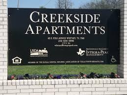 Usda Rural Housing Development Creekside Apartments 401 E Polk Avenue Whitney Tx 75418