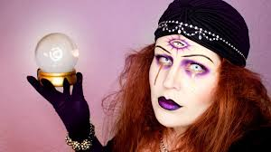 Creepy Makeup For Halloween by Fortune Teller Halloween Makeup Youtube