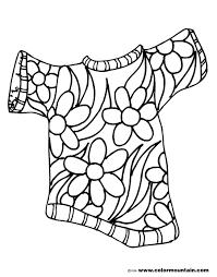 summer flower shirt color picture create a printout or activity