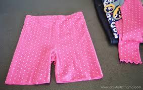 Upcycle Leggings - easy 18 inch doll leggings tutorial artsy fartsy mama