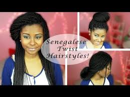 updo hairstyles with big twist 5 senegalese twists hairstyles updos big bun and more youtube