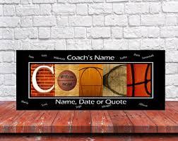 Basketball Room Decor Basketball Coach Etsy