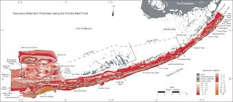Map Of The Florida Keys Overview Map U2014reef And Sediment Thickness Systematic Mapping Of