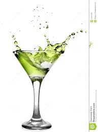 martini cocktail splash green alcohol cocktail with splash stock photo image 13447240