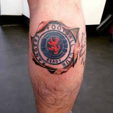 rangers football on calf best ideas gallery