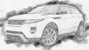 range rover evoque drawing comic book photoshop action by gokhankahraman graphicriver