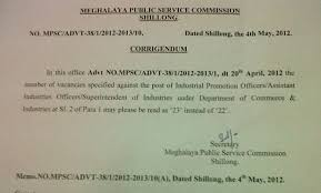 mpsc rules of the meghalaya public service commission
