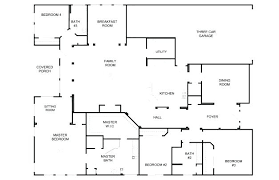 house plans with floor plans simple house plans 4 bedrooms dinogames co