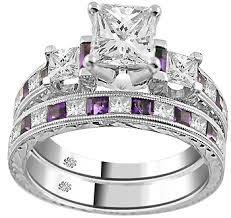 amethyst engagement rings carat corina amethyst engagement ring wedding band set