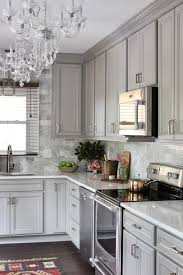 what color backsplash with gray cabinets gray kitchen with gray marble backsplash tiles