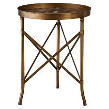 Target End Tables by Threshold Stamped Metal Accent Table Gold Target 60