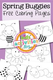 free coloring pages spring buggies