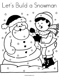 let u0027s build a snowman coloring page twisty noodle