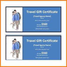 travel gift certificates 7 trip certificate template sle of invoice