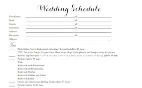 destination wedding itinerary template free wedding itinerary templates and timelines
