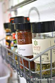 Small Kitchen Organizing - how to organize spices in a small kitchen