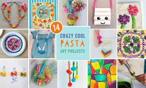 Craft Project Ideas For Kids - fun pasta art activities for kids how to dye your own pasta