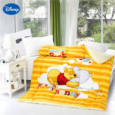 winnie pooh print comforters girls cotton covers autumn winter