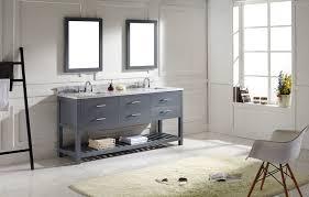 72 Bathroom Vanities Double Sink by Virtu 72 Inch Caroline Estate Bathroom Vanity Grey