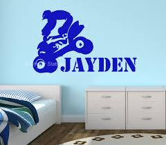 100 childrens personalised wall stickers boys personalised mini moto quad bike personalised wall art sticker sticker station