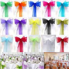 Mint Green Chair Sashes Organza Chair Sash Venue Decorations Ebay