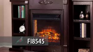 fi8545 tennyson infrared electric fireplace w bookcases