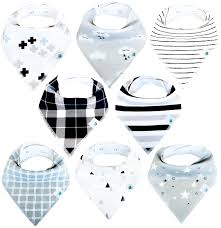 amazon com baby bandana drool bibs 6 pack for boys and girls